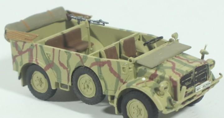 Maqueta vehículo horch, montado y pintado, 1/72, caja 6