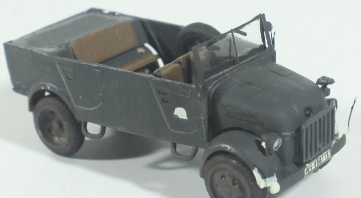 Maqueta vehículo steyr, montado y pintado, 1/72, caja 6