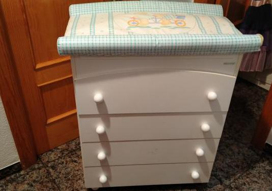 Mueble de bañera con cambiador para bebes