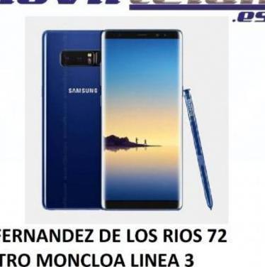 Note 8 64gb azul muy buen estado telefono mas ...