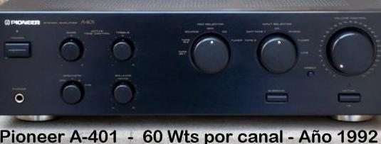 Pioneer a-401 - 60 w rms