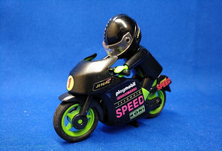 Playmobil moto de competición speed negra