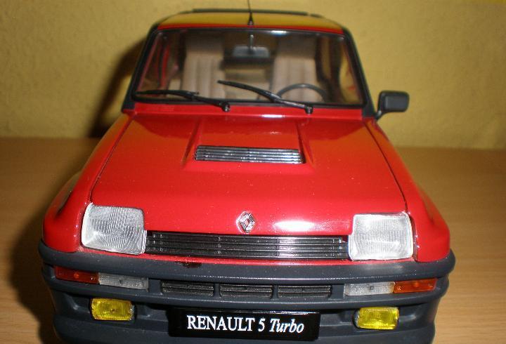 Renault 5 turbo,universal hobbies,escala 1/18