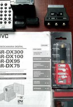 Cables, mando, libro de videocamara mini dv