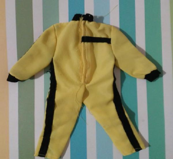 Peto o mono amarillo de piloto para muñeco madelman o