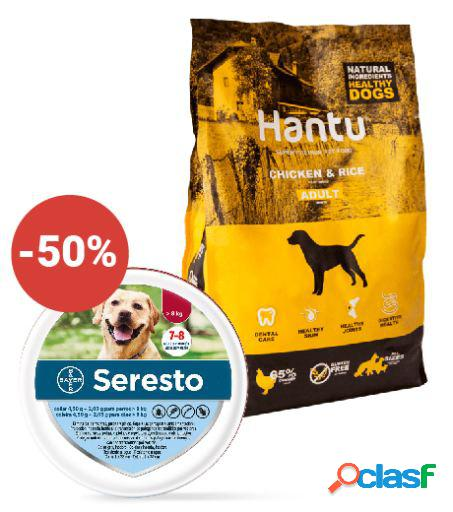 Seresto + hantu adult pollo y arroz 12 kg grande