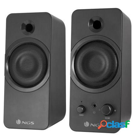 Altavoces gaming 2.0 ngs gsx-200 - 20w rms - supergraves - jack 3.5mm