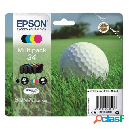 Cartucho tinta epson t346640 multipack 34 - 18.7ml - 4 colores (negro