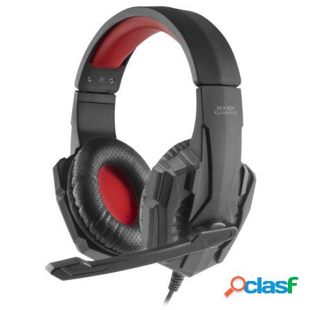 Auriculares diadema con microfono mars gaming mh020 - drivers 40mm - m