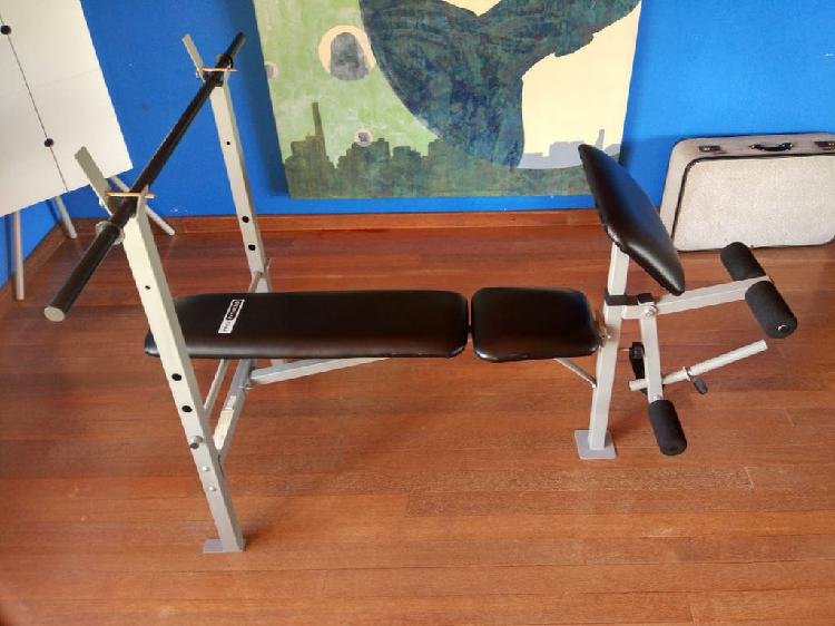 Banco pesas press banca, biceps y piernas