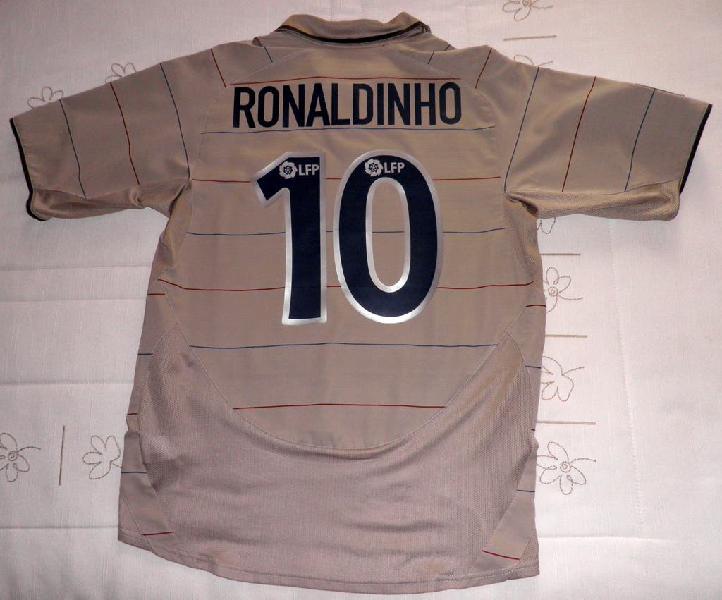 Camiseta barça ronaldinho 2003 2004