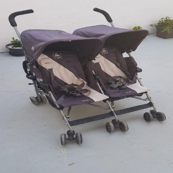 Carro de paseo gemelar maclaren twin triumph