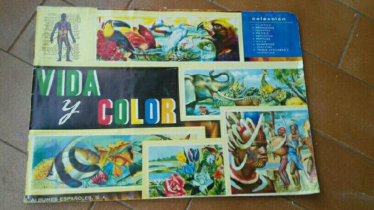 """Colección """"vida y color"""" álbumes. 380 cromos"""