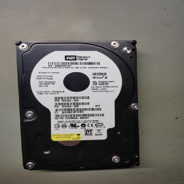 Disco duro hdd sata 3,5 western digital 250gb