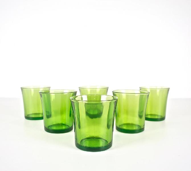 Juego vasos duralex bajos verdes