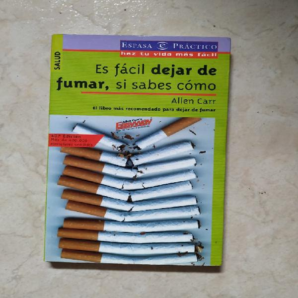 """Libro """"es fácil dejar de fumar, si sabes cómo"""""""