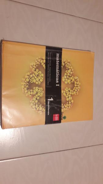 Libro matemáticas 1º bachillerato. editorial sm.