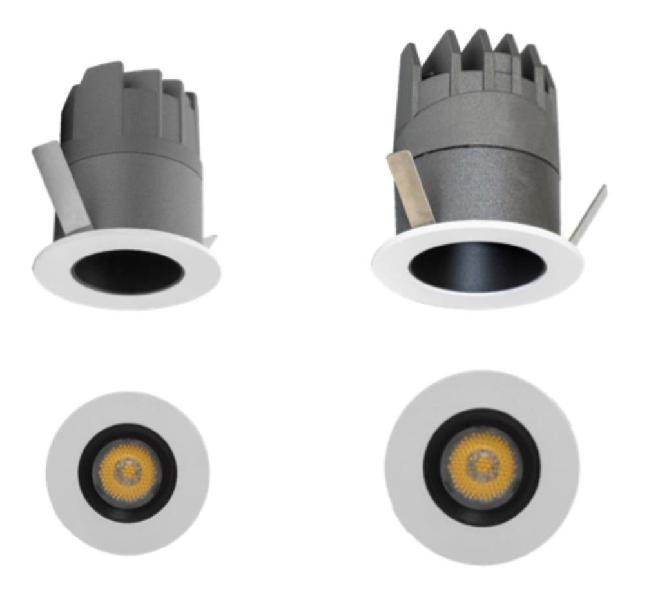 Mini downlight 3w y 5w microlink