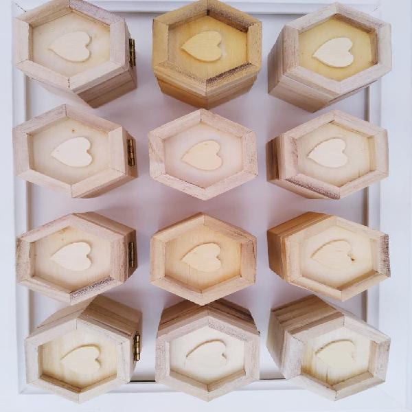 Pack de 12 cajitas de madera