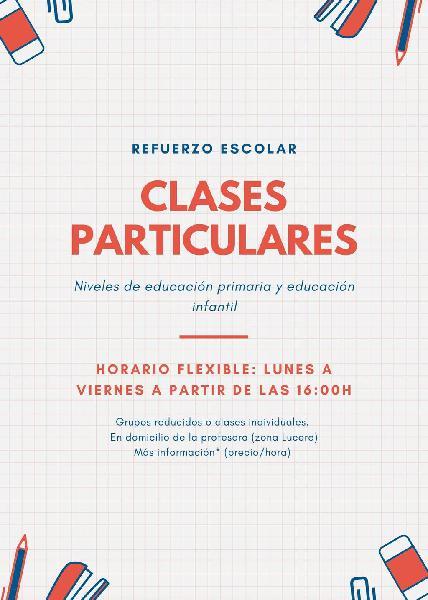 Refuerzo escolar / clases particulares