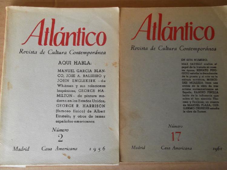 """Revista de cultura contemporánea""""atlántico"""" 2 y 17"""