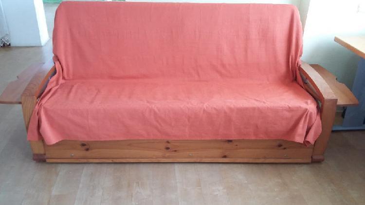 Sofá cama madera maciza