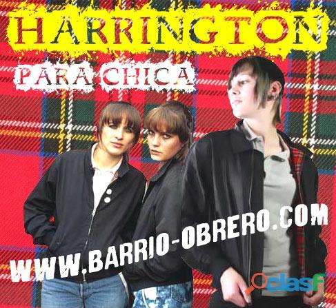 Harrington jacket   en tallas para mujer (skingirl, punk...)