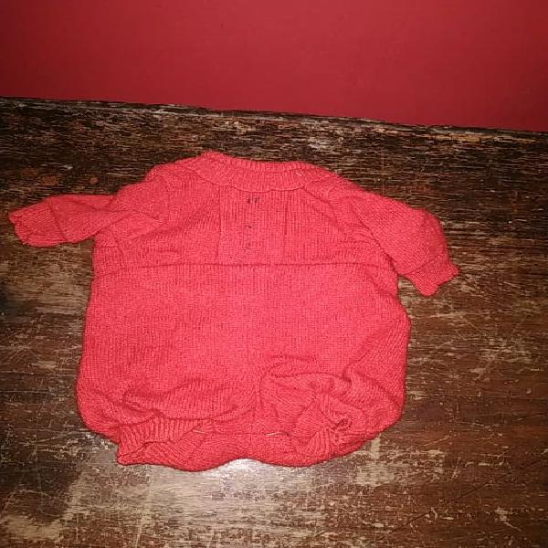 Pelele de lana muñeco bebé años 60