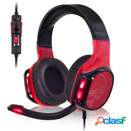 Auriculares con microfono spirit of gamer elite-h60 red - drivers 50mm