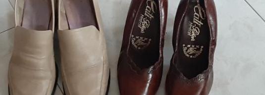 2 pares de zapatos piel número 38