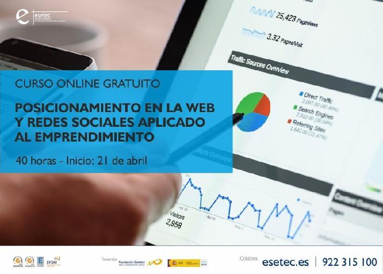 """Curso online: """"posicionamiento en la web y redes sociales"""