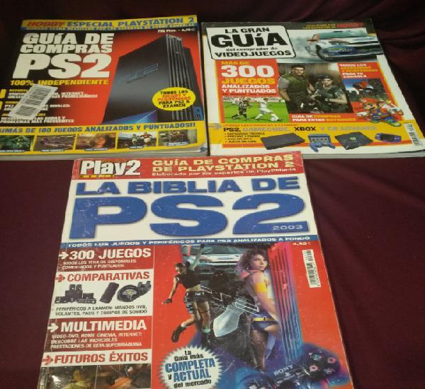 Lote 3 guias, revista videojuegos, hobby consolas y play2