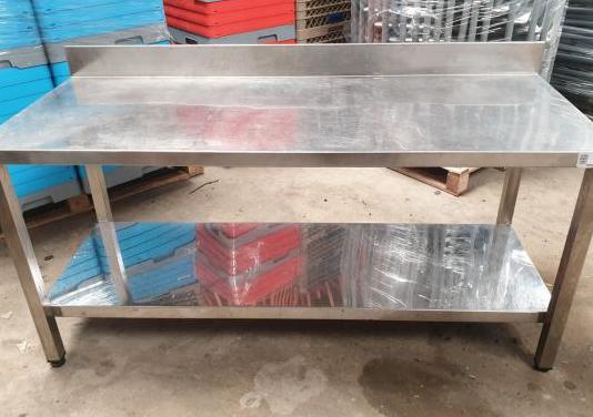 Mesa de trabajo de acero inox de 180x50x75