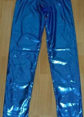 Pantalón ajustado brillante, talla m