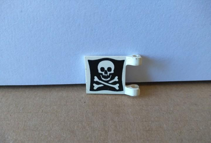 Playmobil bandera calavera blanco negro barco primera epoca