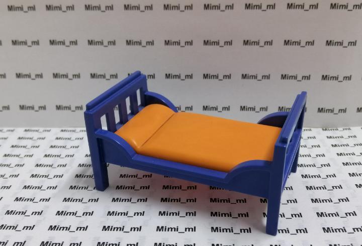 Playmobil cama niño casa moderna colchón naranja