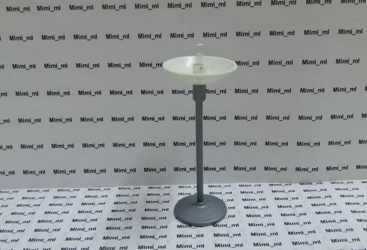 Playmobil lámpara pie casa moderna oficina iluminación pie
