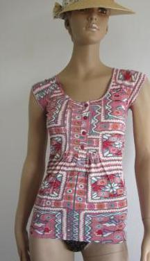 Ropa de mujer - camiseta estampada sin mangas