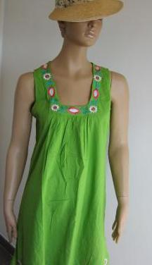 Ropa de mujer - vestido verde claro sin mangas