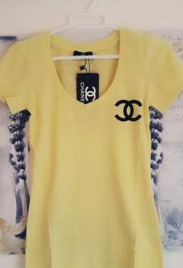 Camiseta chanel amarilla tallas m l