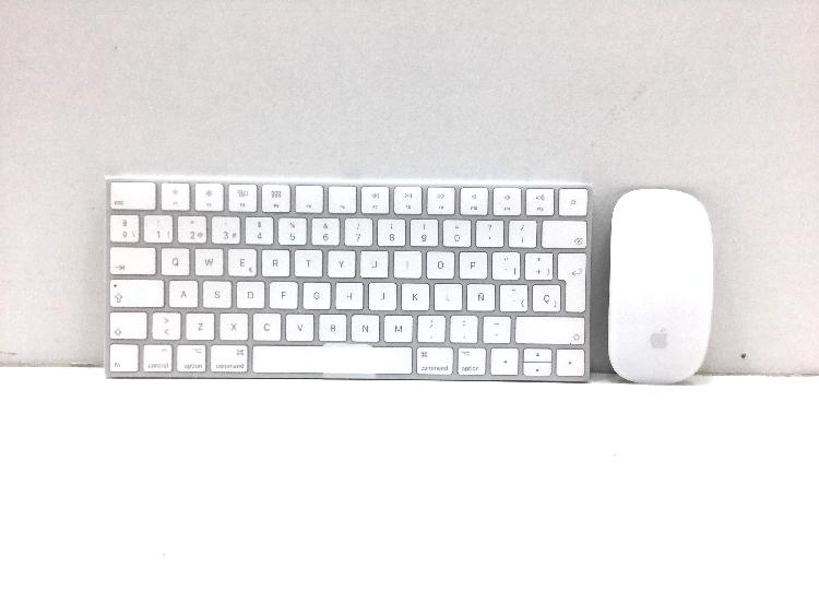 otros informatica apple kit teclado + raton apple magic