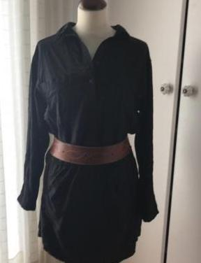 Vestido negro camisero
