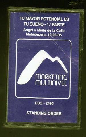 Cinta de cassette conferencia marketing multinivel