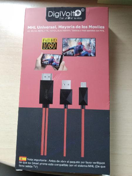 Cable mhl ver móvil o tablet en tv