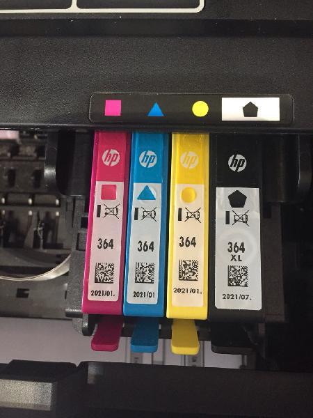 Cartuchos tinta hp 364 color y negro xl