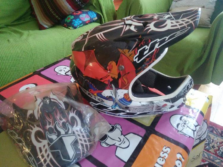 Casco carbono dh