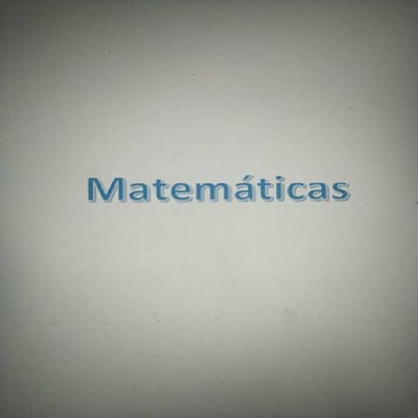 Clases matemáticas pau