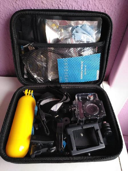 Cámara accion deportiva cbx 4k wifi maletin