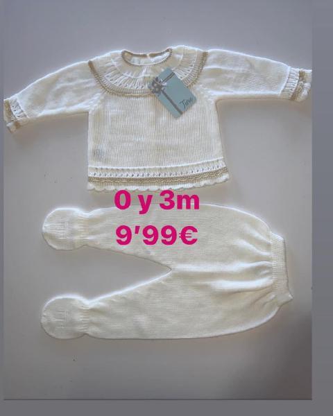 Conjunto lana bebé