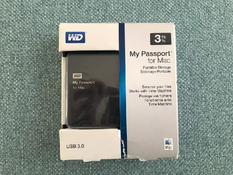Disco duro externo wd my passport for mac 3tb